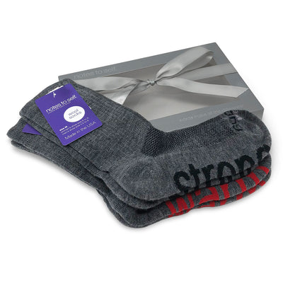 wool crew sock gift set i am strong socks i am warm socks in gift box