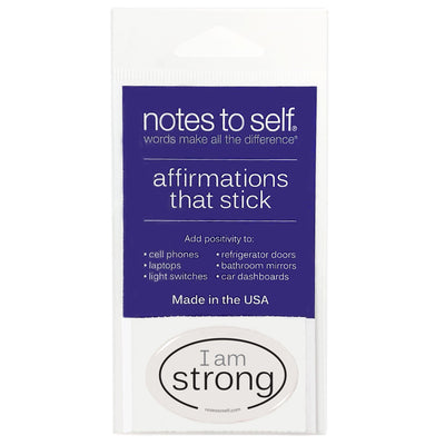 i am strong puffy sticker affirmations that stick