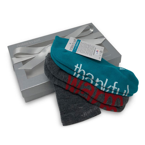 sock gift set i am warm wool crew socks i am thankful socks in silver box