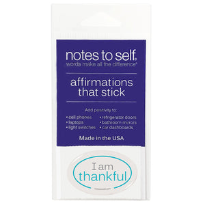 i am thankful puffy sticker affirmations that stick