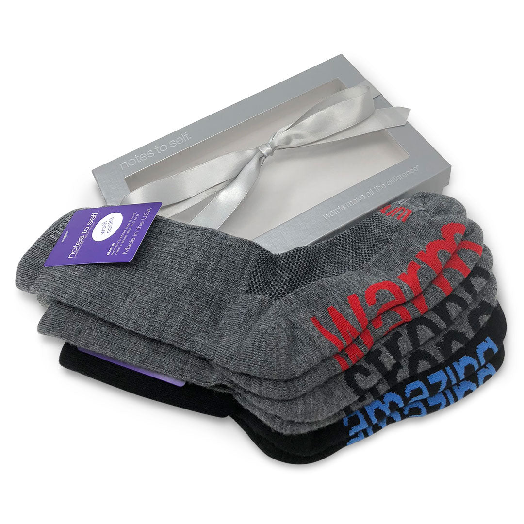 wool sock gift set i am amazing socks i am strong socks i am warm socks in gift box