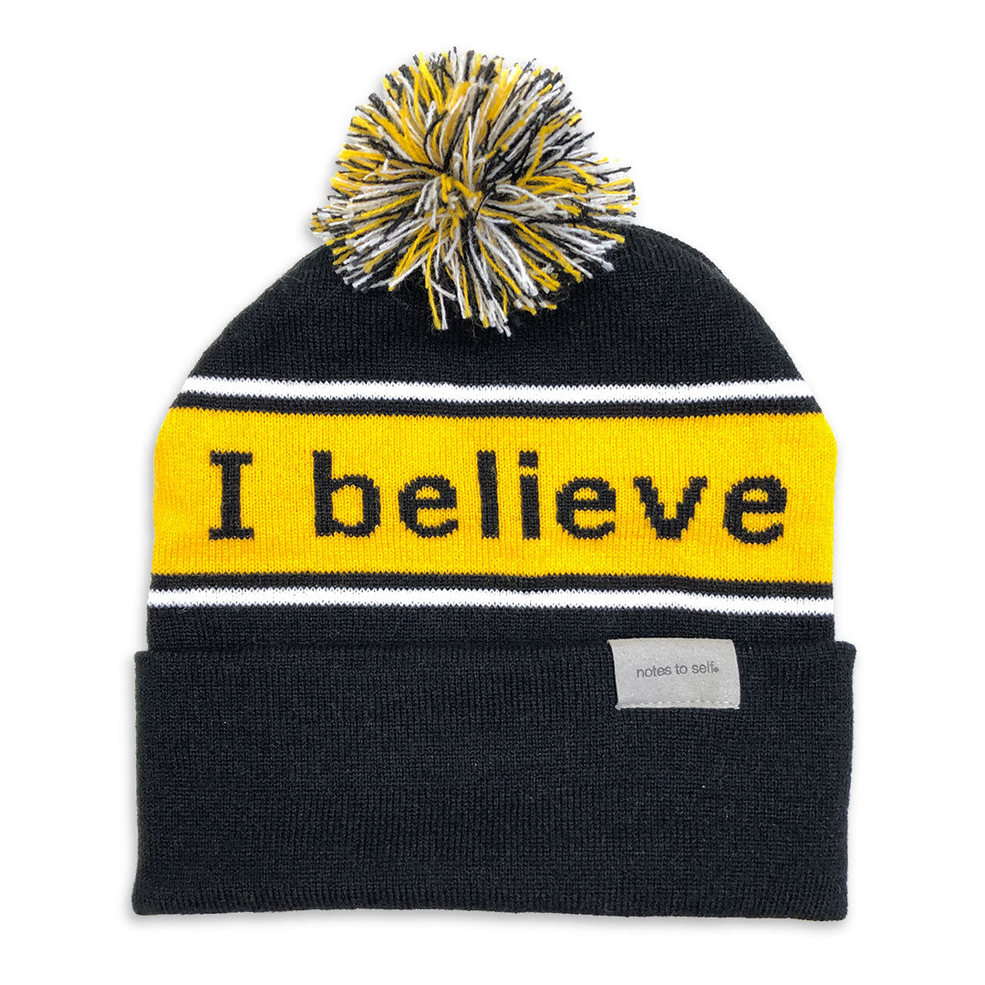 i believe black and yellow beanie shown with single cuff