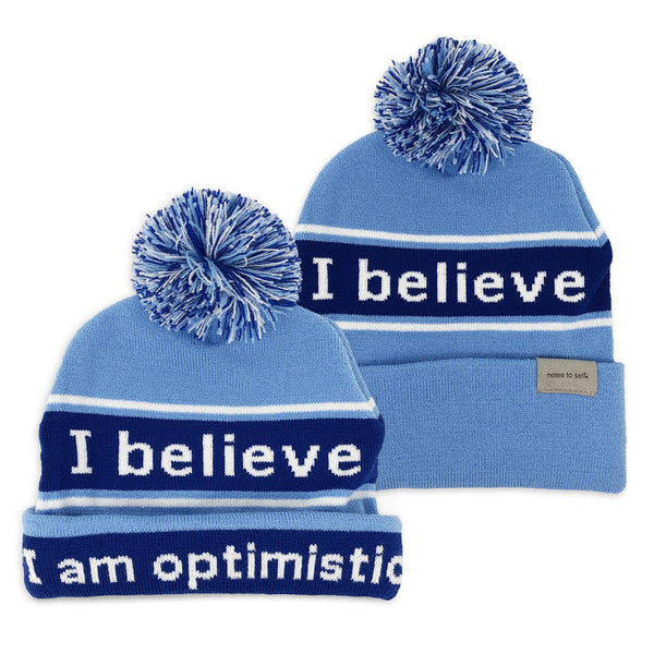 i believe beanie hat in blue shown with single and double cuff