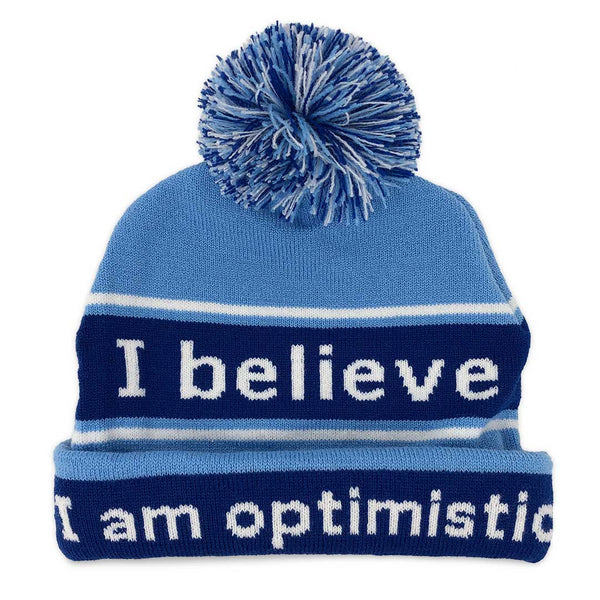 i believe beanie hat with i am optimistic positive affirmation inside