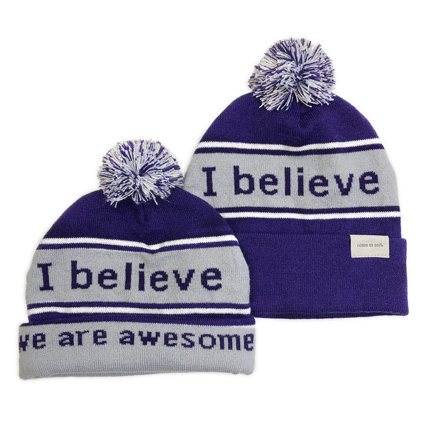 i believe purple and grey beanie shown with single and double cuff