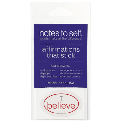 i believe puffy sticker affirmations that stick