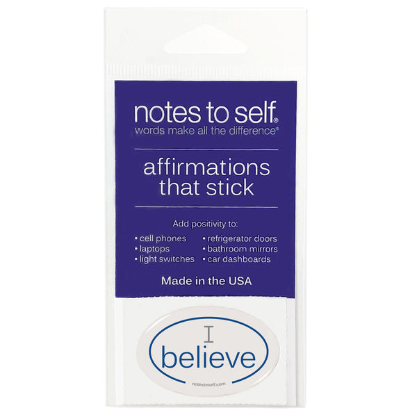 i believe blue puffy sticker affirmations that stick