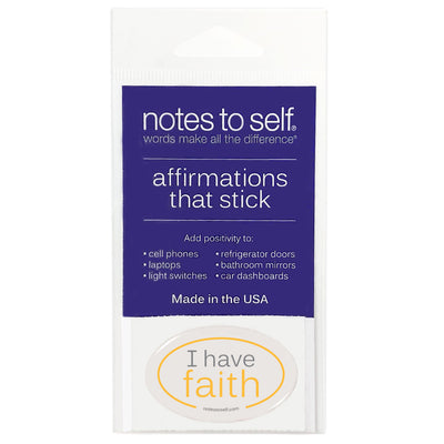 i have faith puffy sticker affirmations that stick