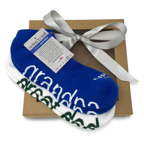 sock gift set for men i love grandpa socks i am a great dad socks in gift box
