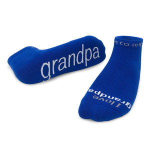 i love grandpa socks with thoughtful message