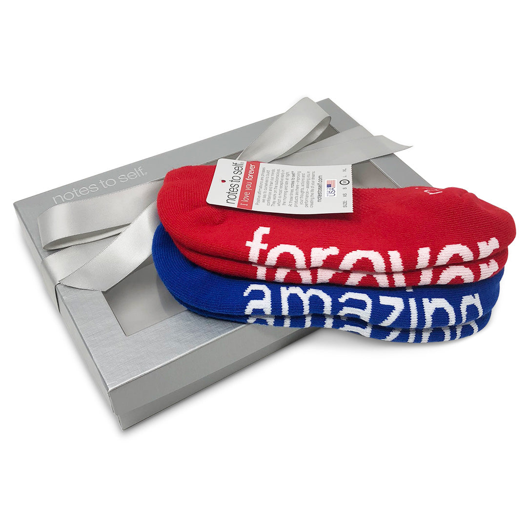 sock gift set i am amazing socks i love you forever socks in silver box