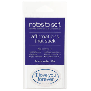 i love you forever puffy sticker affirmations that stick