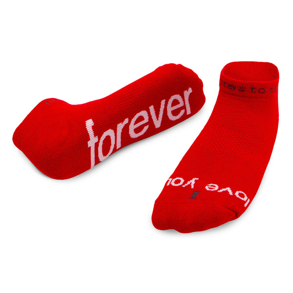 i love you forever red low cut socks