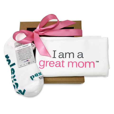 gift for mom i am a great mom pillowcase i am relaxed socks in gift box