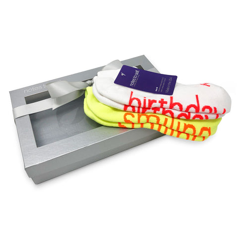 it's my birthday i am smiling sock gift set