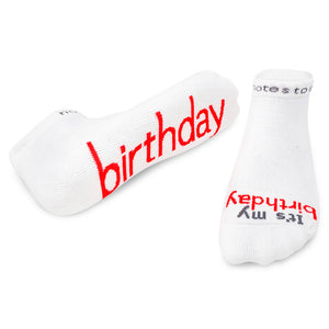 birthday gift it's my birthday socks with words