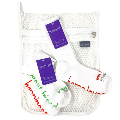 my horse loves me - horse lover sock laundry bag 3 pair set