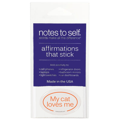 my cat loves me puffy sticker affirmations that stick