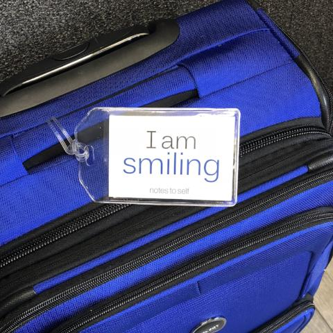 'I am the bride'™ + 'I am smiling'™ luggage tag