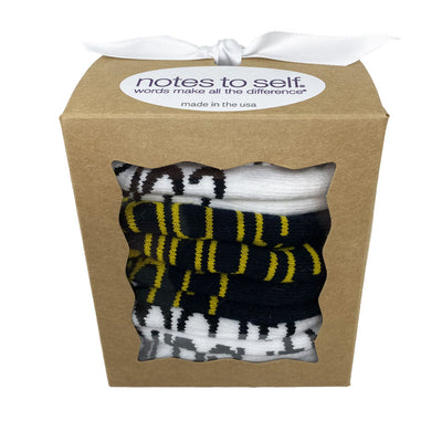 socks in a box 3 pair set of i've got this confidence and crushing it socks