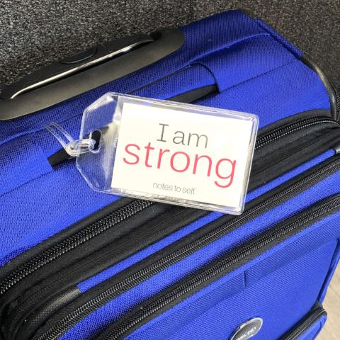 'I am strong'™/'I am perfectly me'™ luggage tag