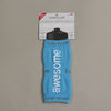 notes to self™ positive affirmation water bottle cover - 'I am awesome'™ - aqua blue