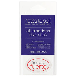 yo soy fuerte i am strong spanish puffy sticker affirmations that stick