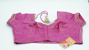 Medium Red Violet Designer Blouse Size 38 - 40