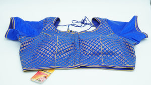Royal Blue Designer Blouse Size 38 - 40