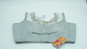 Tower Gray Designer Blouse Size 36 - 38