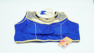Royal Blue Designer Blouse Size 36 - 38