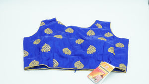 Persian Blue Designer Blouse Size 36 - 38
