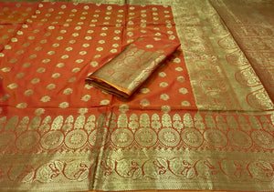 Zest Banarasi Silk  Saree with Blouse