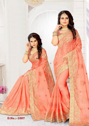 Tacao Chiffon Sahi with Blouse