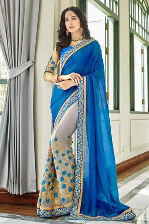 Bud Georgette Silk  Saree with Blouse