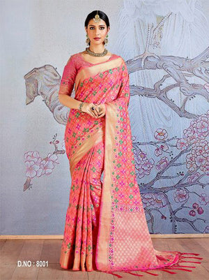 Japonica Jacquard Silk  Saree with Blouse