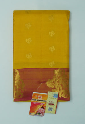 Nugget Kanchipuram Handloom Butta Emboss Pure Silk Saree with Blouse