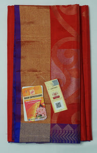 Crown of Thorns Kanchipuram Handloom Soft Pure Silk Saree with Blouse