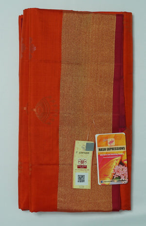Tabasco Kanchipuram Handloom Soft Pure Silk Saree with Blouse