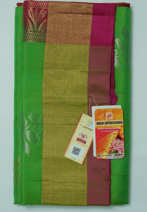 Bilbao Kanchipuram Handloom Soft Pure Silk Saree with Blouse