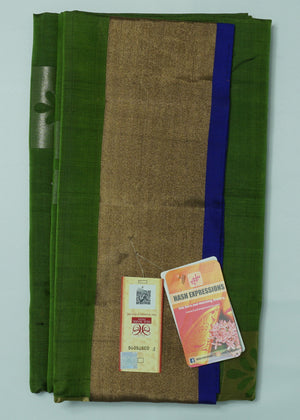 Palm Leaf Kanchipuram Handloom Soft Pure Silk Saree with Blouse