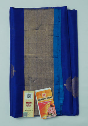 Lucky Point Kanchipuram Handloom Soft Pure Silk Saree with Blouse