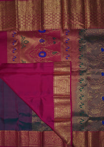 Tundora Kanchipuram Handloom Elite Pure Silk Saree with Blouse