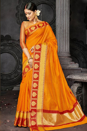 Anzac Printed Silk  Saree with Blouse