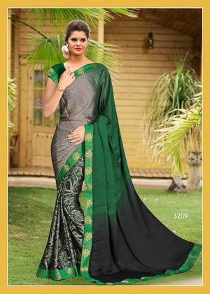 Everglade Half and Half Silk  Saree with Blouse