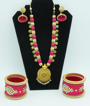 Maroon Flush Silk Thread  Jewelry