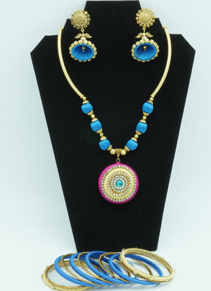 Curious Blue Silk Thread  Jewelry