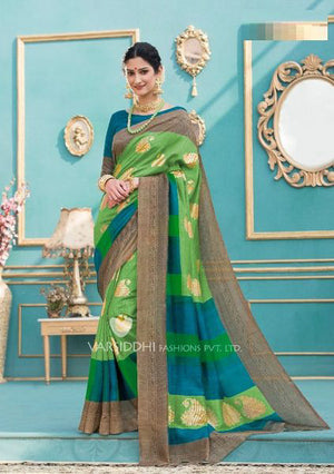 De York Tussar Silk  with Blouse