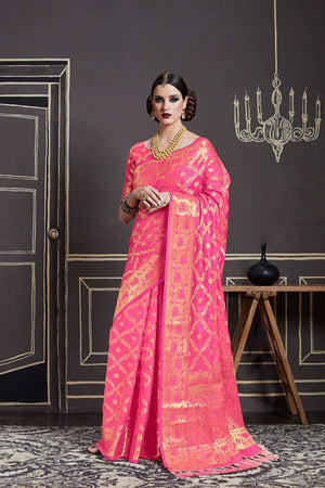 Froly Silk Zari  Saree with Blouse