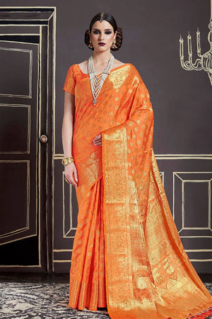 Anzac Silk Zari  Saree with Blouse